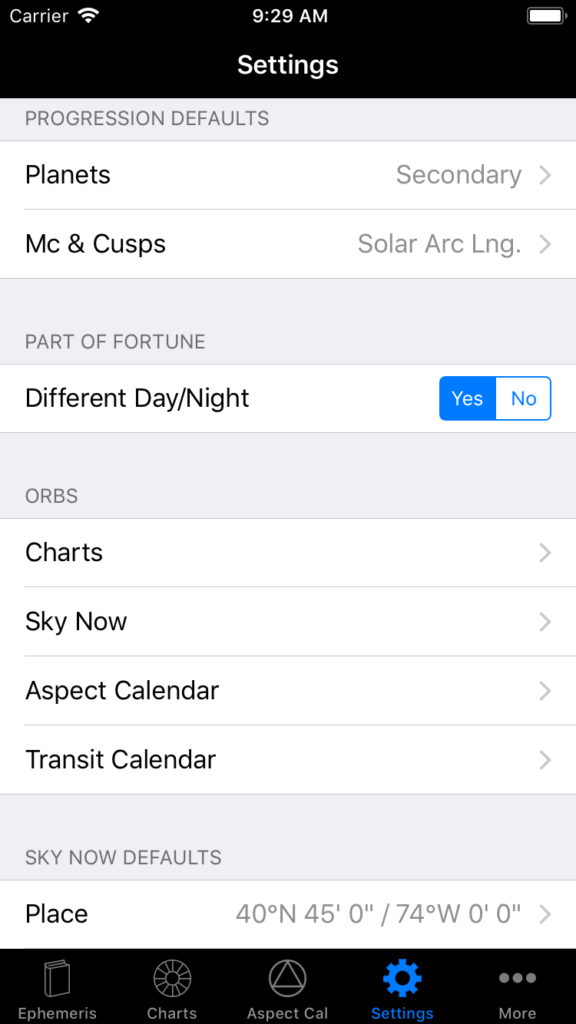 documentation-ios-app – iPhemeris Astrology Software for