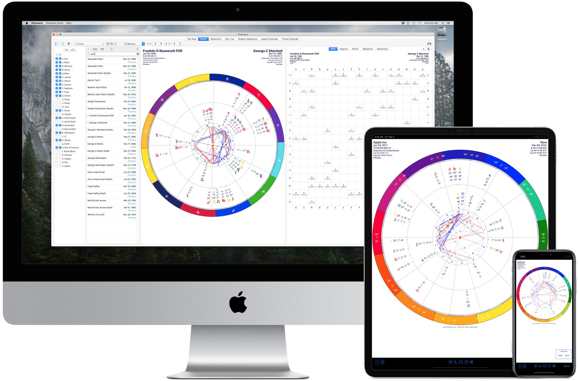 Astrology Software for Mac, iPhone & iPad | iPhemeris